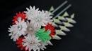 Kanzashi flower medium Chrysanthemum with stone pink
