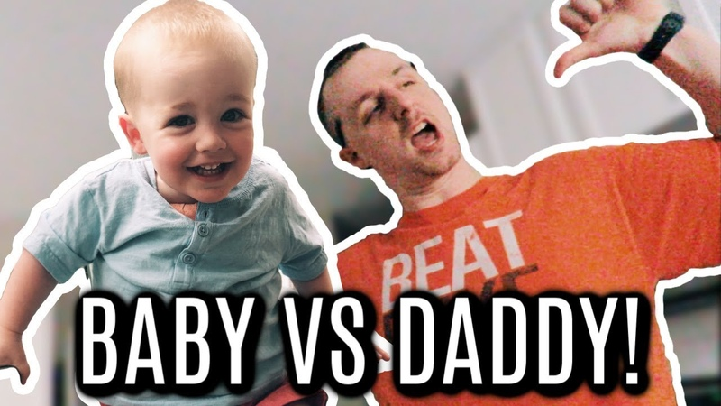 Baby Wrestling Match! Baby Versus Daddy in Father Son Smackdown!