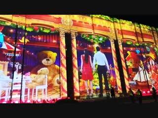 Рождественское видео-представление на здании Театра-Театра