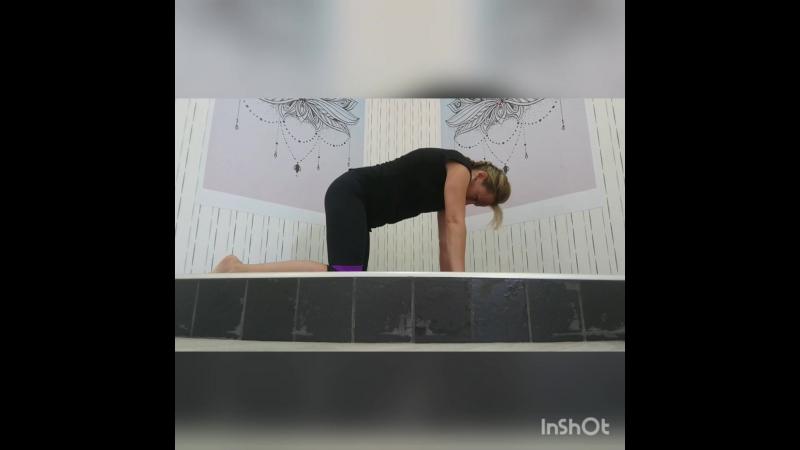 Расслабление спины и вытяжение бедра