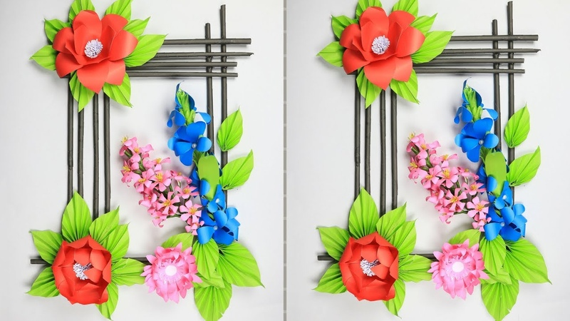Paper Flower Wall Hanging: DIY Hanging Flower | Wall Decoration Ideas (Very Easy)