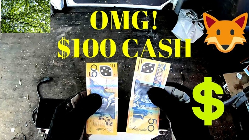 OMG! Cash in Trash! $100 on first pile, PC Scores, Curbside Street Scrap Picking