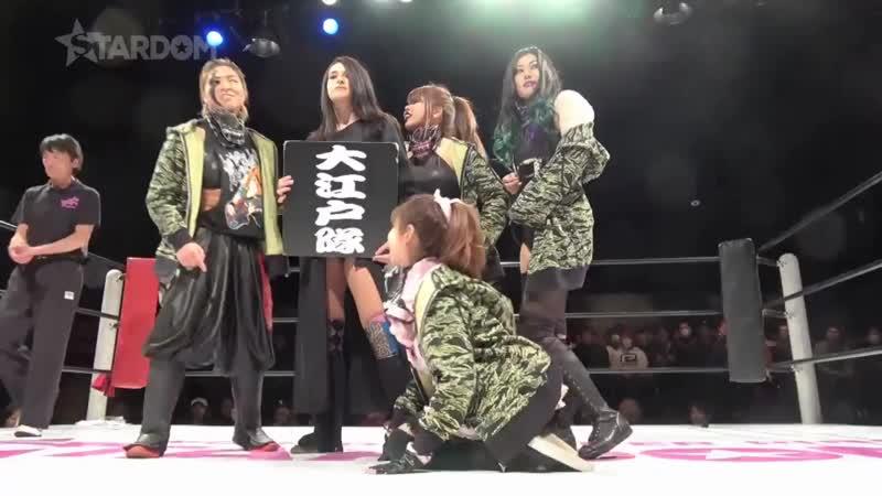 JAN (Jungle Kyona, Kaori Yoneyama, Natsuko Tora & Ruaka) vs. Oedo Tai (Hazuki, Jamie Hayter, Kagetsu & Natsu Sumire)