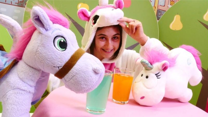 Çocuk videosu. Ayşe Unicorn kafe açıyor