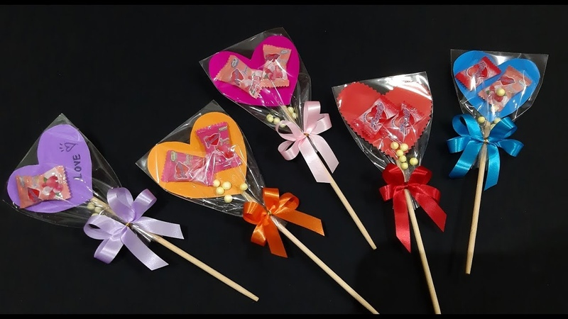 ของขวัญวันปัจฉิม ช่อลูกอมฮาร์ทบีท ( DIY Wrap Candy Bouque )36