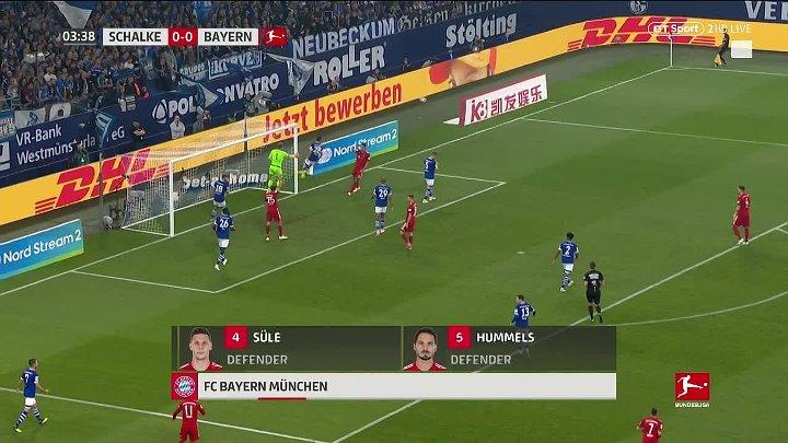 Шальке - Бавария обзор матча (22.09.2018)