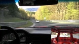 Volvo 850 r chasing by a BMW M4 @ Nurburgring Nordschleife