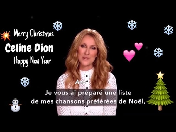 Celine Dion's Speacial wishes for Christmas n New Year Eva ⚡Celine's Wishes Compilation