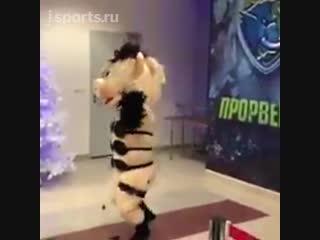 Свинья из «Ну, погоди!» в стрингах танцевала стриптиз на матче ВХЛ
