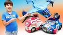 Машинки Робокар Поли Robocar Poli и самолет! Видео для детей, как самолет попал в грозу