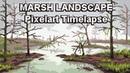 Marsh Landscape - Pixel Art Timelapse