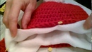 Inserting a Fleece Lining into a Crocheted Hat