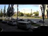Момент ДТП (4 автомобиля) на перекрестке ул. Масленникова, ул. Куйбышева (13.10.2018)