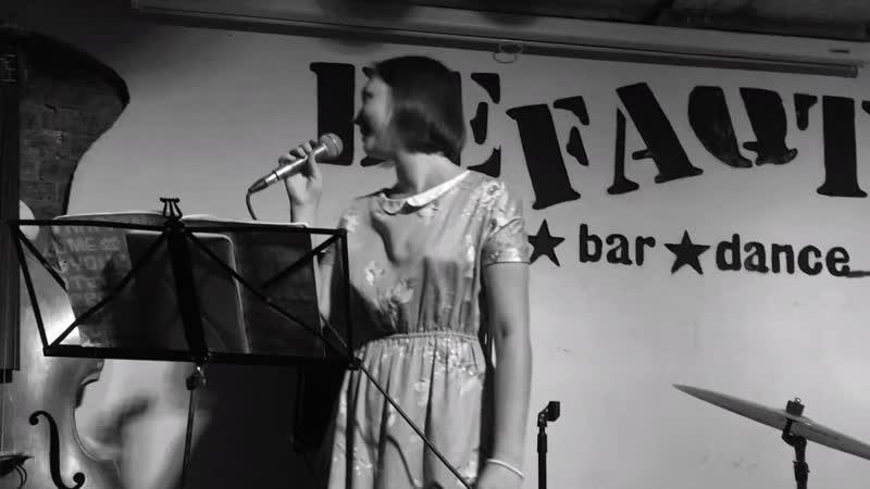 Anastasia Rodnaya Adiyants jazz trio For Jeff Schnider Live at Defaqto 07 10 2018
