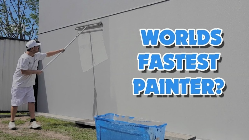 Paint Fast with the World's Biggest Paint Roller
