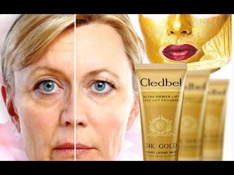 Золотая маска для лица! Cledbel 24K Gold – это мгновенная подтяжка лица - YouTube
