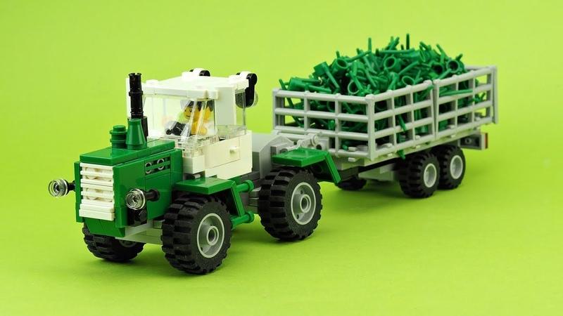 LEGO Как собрать трактор Т150. Самоделка