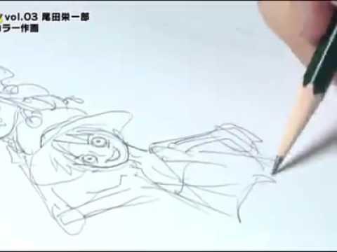 Mangaka Eiichiro Oda Drawing One Piece