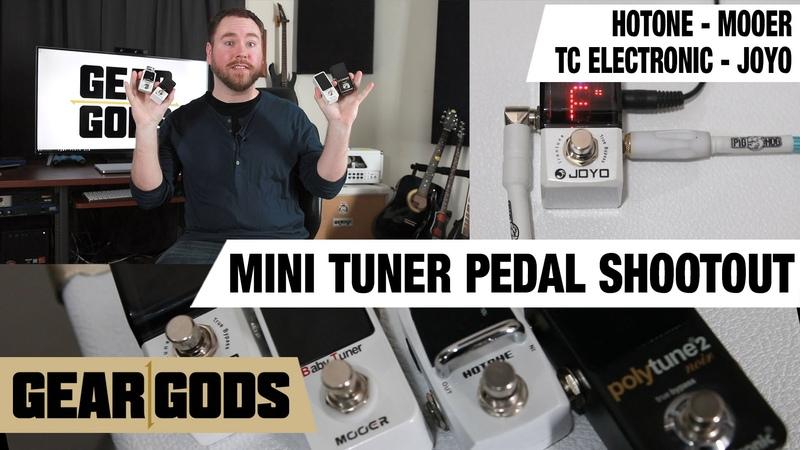 Mini Tuner Pedal Shootout - Mini Pedal Madness Part 4 - Joyo Mooer TC Electronic Hotone   GEAR GODS