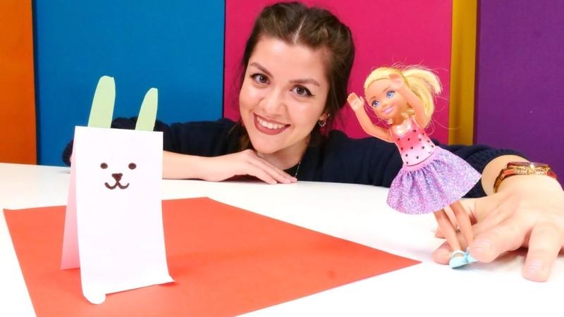 Barbie oyunları. Oyuncak bebek Chlesea tavşan yapıyor