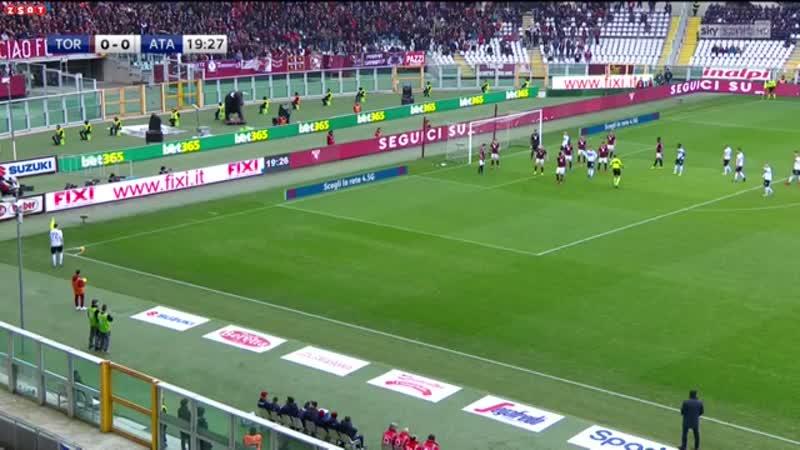 Обзор матча Торино 20 Аталанта.Серия А.23.02.2019