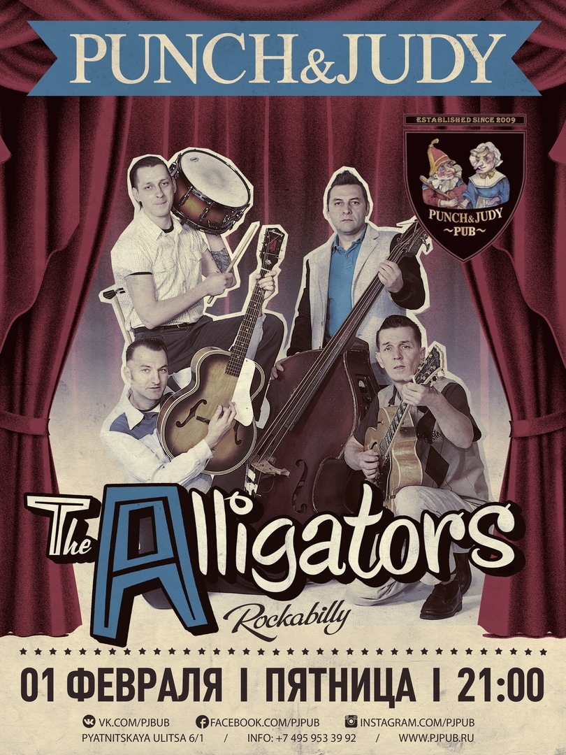 01.02 The Alligators в пабе Punch and Judy!