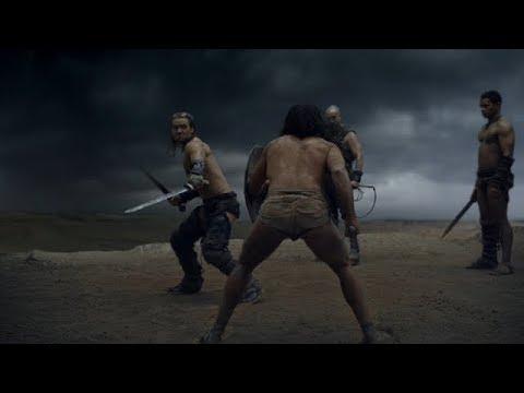 Gannicus vs Crixo Primera pelea (escena de Dioses de La Arena)