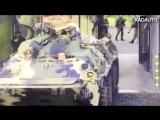 В Калининграде помыли БТР на автомойке