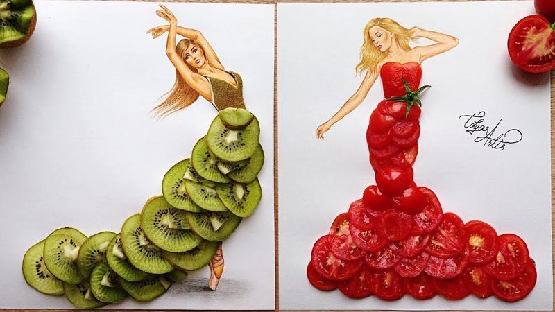 ESTE ARTISTA TE DEJARÁ CON LA BOCA ABIERTA 🥝🍅Vestidos Increíbles Armenian Fashion Illustrations