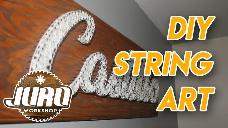 DIY String Art Name | JURO Workshop