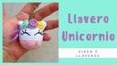 Llavero de Unicornio a crochet / Aprende a tejer tu llavero de unicornio
