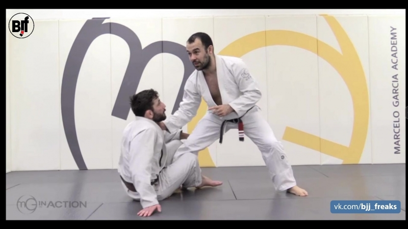 Marcelo Garcia - Single Leg Counter- Collar Control Ankle Pick Takedown- Taking the Back from Front Headlock Mgarcia