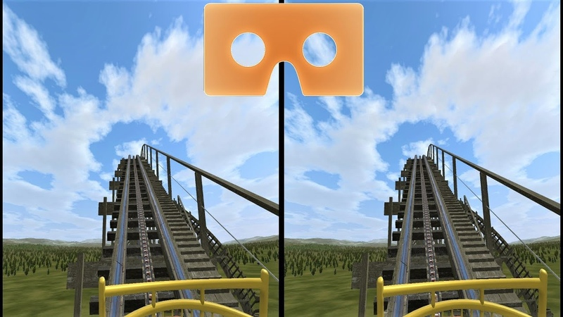 VR 3D video Roller Coaster 12 Американские Горки для VR очков 3D SBS