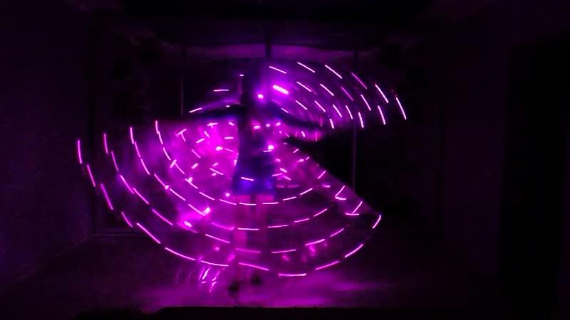 Светодиодные крылья Pass de Bleu -145 (розовый с режимами мерцания) от LeDance Fashion 79264404648