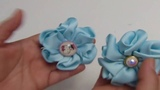 COMO HACER FLORES DOBLES DE CINTA GROS, Flor Hermosa de Liston