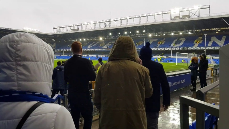 My first steps on the pitch of Goodison Park