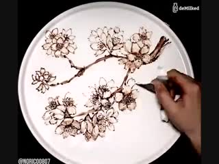 Рисунки шоколадом (6 sec)