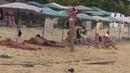 Красивые девушки в бикини на пляже Женщины в купальниках Стройное тело естественная красота
