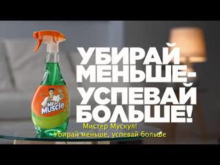 Спрей mr muscle® профессионал для стекол. убирай меньше - успевай больше!