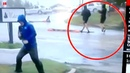 Reporter goes viral after appearing to fake extreme wind conditions