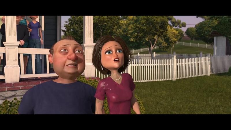 MONSTERS vs ALIENS 2009 Funny Scene Visiting Family
