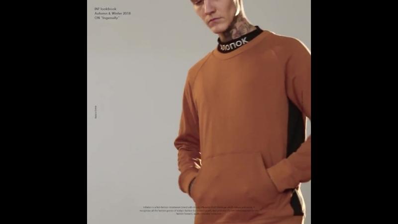 INFLATION Autumn Winter New Hoodies Men Contract Sleeve Pullover Sweatshirts O-neck Hoodie High Street Casual Sweatshirt 8824W
