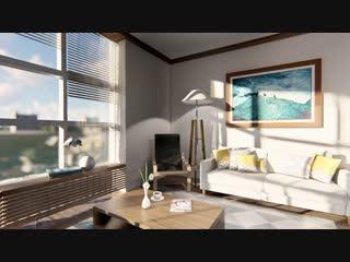 Интерьер двухкомнатной квартиры в Доме №5.