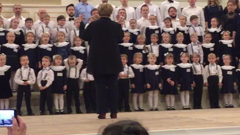 На концерте детей и внука