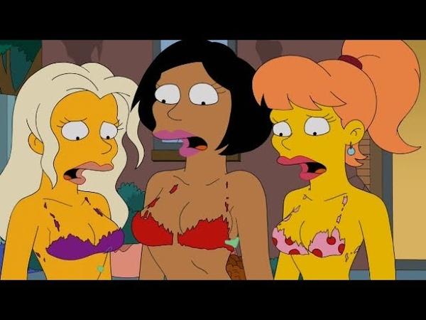 Голые тётки. Барт и Милхаус смотрят фильм 18 - Симпсоны (1989)