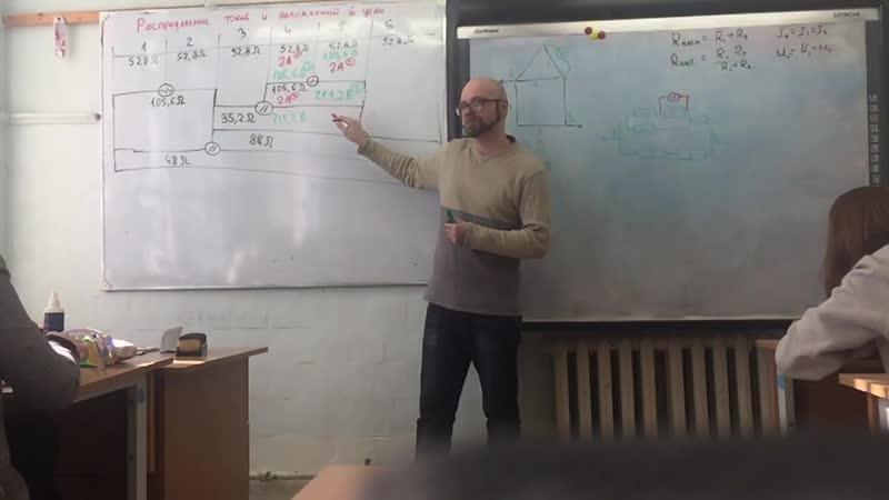 Распределение токов и напряжений в электрической цепи 88
