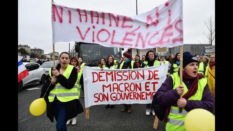 Chalecos amarillos protestan por décimo sábado en Francia