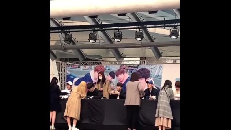 VIDEO 190413 TXT's fan sign event today in Daegu