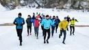 Трассу Югорского лыжного марафона опробовали бегуны