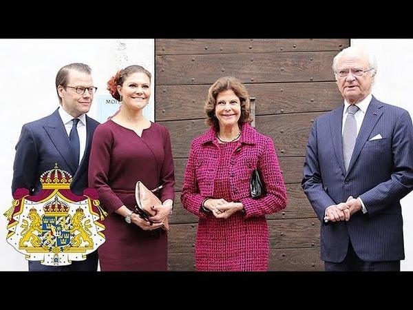 Kungaparet och Kronprinsessparet besökte Pau